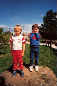 Joe and Jusin as kids 1